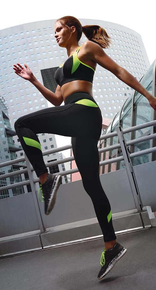 Legíny sportovní černo-zelené