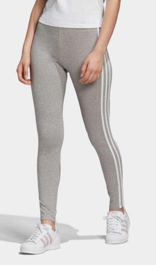 Nadčasové dámské legíny Adidas v šedém provedení