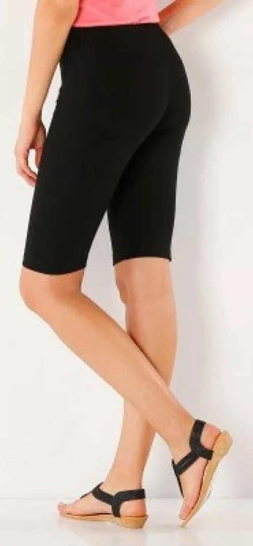 Černé dámské letní legíny v délce nad kolena