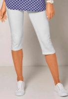 Jednobarevné dámské letní korzárské kalhoty