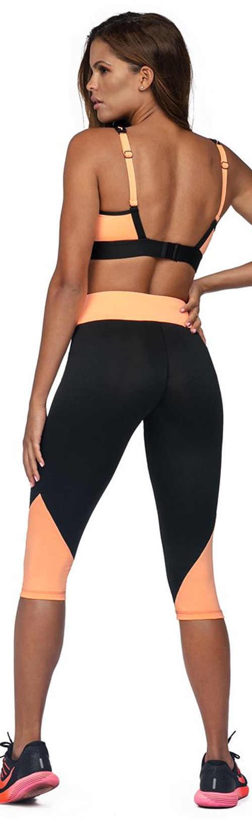 Módní sportovní legíny krátké nohavice