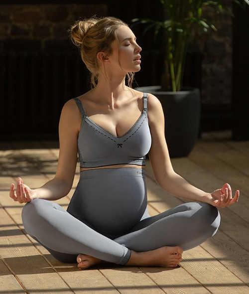 Těhotenské legíny na jógu a meditaci