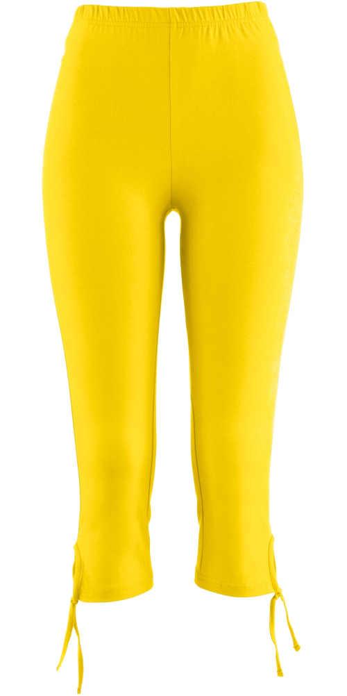 Žluté dámské capri legíny