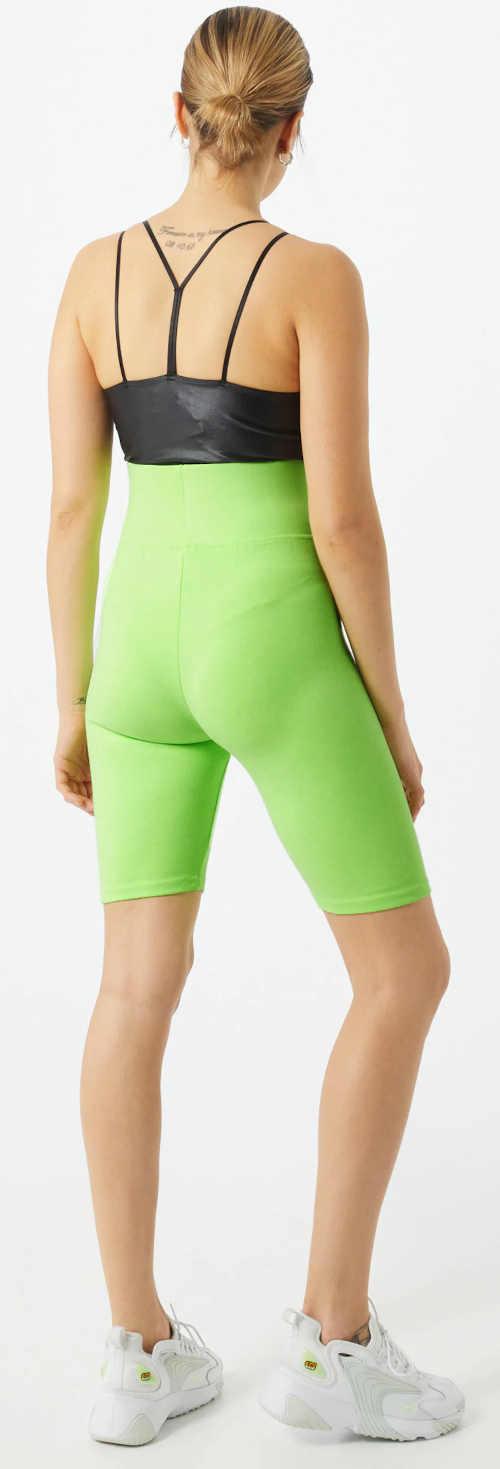 Capri sportovní legíny světle zelená barva
