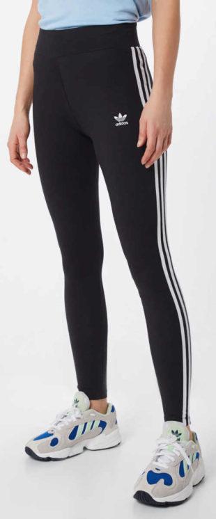 Dlouhé černé dámské sportovní legíny adidas