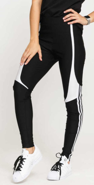Legíny Adidas v působivém provedení černé s bílou