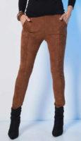 Legíny v karamelové barvě z příjemného hebkého materiálu