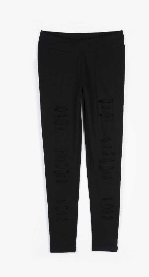 legíny s dlouhými nohavicemi v černé barvě