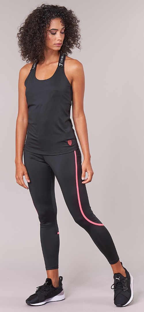 Černé dámské fitness legíny Armani
