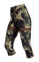 Dámské legíny v moderním army stylu ve 3-4 délce