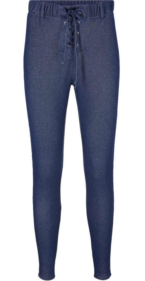 modré termo legíny s dlouhými nohavicemi