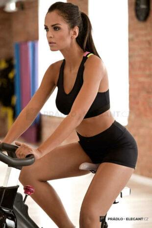 Funkční dámské krátké fitness šortky v černém provedení