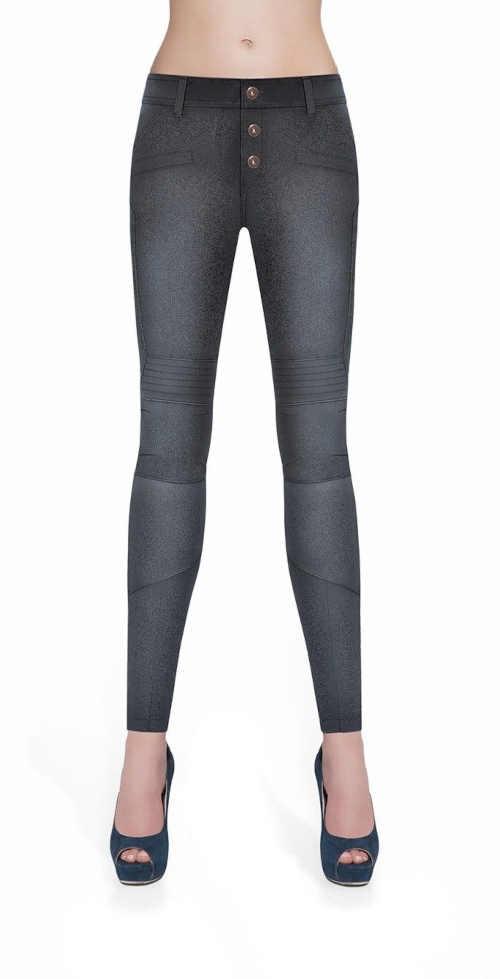 Jeansové legíny v atraktivním vzhledu v různých barvách