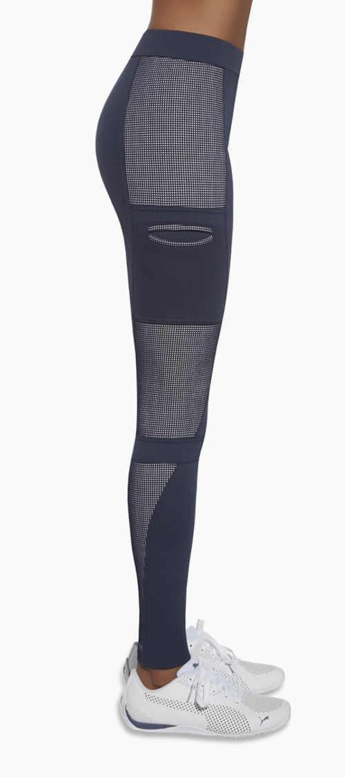 dlouhé modré sportovní legíny