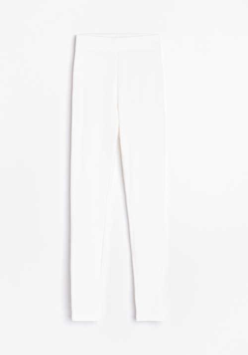 dámské bílé dlouhé legíny