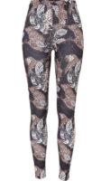 Stylové legíny s dlouhými nohavicemi v zajímavém vzoru