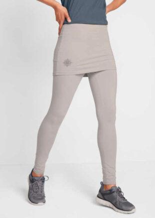 Sportovní dlouhé legíny se sukní ze strečového materiálu
