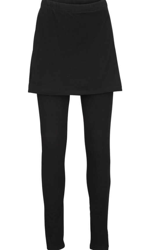 Dámské dlouhé legíny se sukní v černém provedení