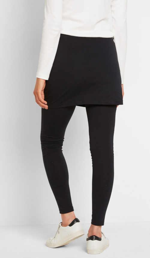 dlouhé černé legíny se sukní